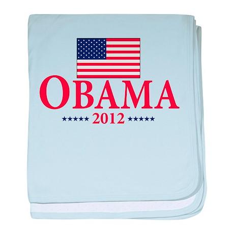 Barack Obama for president baby blanket