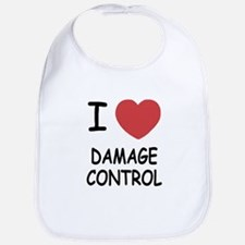 I heart damage control Bib