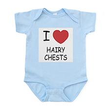 I heart hairy chests Infant Bodysuit