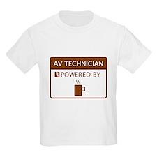 AV Technician Powered by Coffee T-Shirt
