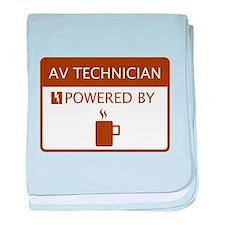AV Technician Powered by Coffee baby blanket