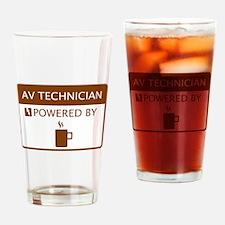 AV Technician Powered by Coffee Drinking Glass