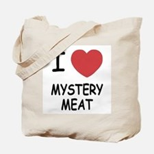 I heart mystery meat Tote Bag