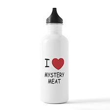 I heart mystery meat Water Bottle