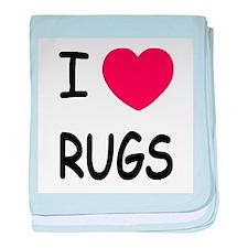 I heart rugs baby blanket