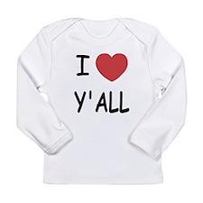 I heart yall Long Sleeve Infant T-Shirt
