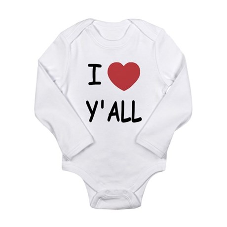 I heart yall Long Sleeve Infant Bodysuit