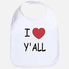 I heart yall Bib