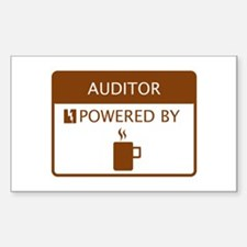Auditor Powered by Coffee Sticker (Rectangle)