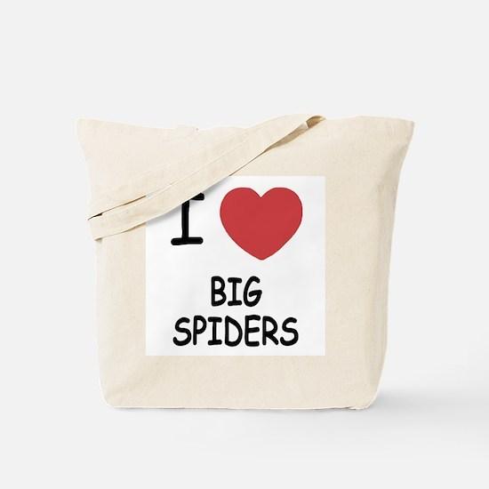 I heart big spiders Tote Bag