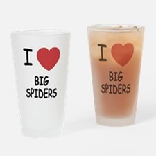 I heart big spiders Drinking Glass