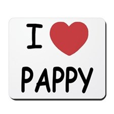 I heart pappy Mousepad