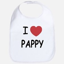 I heart pappy Bib