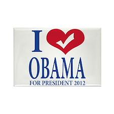 i love obama.png Rectangle Magnet (100 pack)