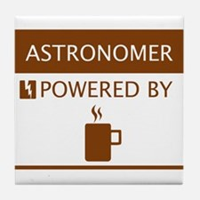 Astronomer Powered by Coffee Tile Coaster