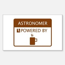 Astronomer Powered by Coffee Sticker (Rectangle)