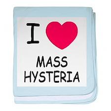 I heart mass hysteria baby blanket