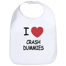 I heart crash dummies Bib