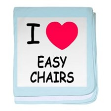 I heart easy chairs baby blanket
