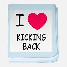 I heart kicking back baby blanket