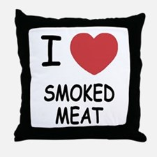 I heart smoked meat Throw Pillow