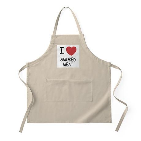 I heart smoked meat Apron
