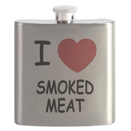 I heart smoked meat Flask