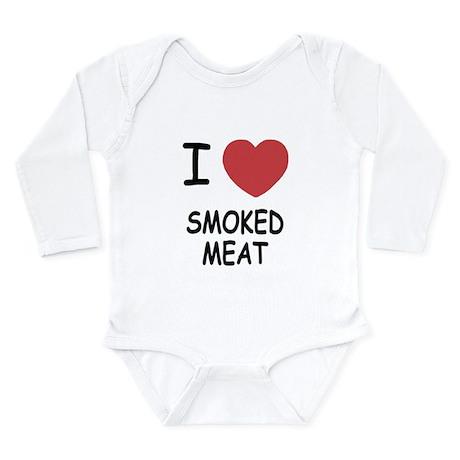 I heart smoked meat Long Sleeve Infant Bodysuit