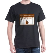 Assistant Manager Powered by Coffee T-Shirt