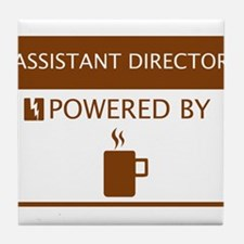 Assistant Director Powered by Coffee Tile Coaster