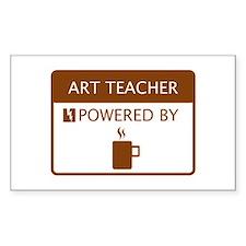 Art Teacher Powered by Coffee Decal
