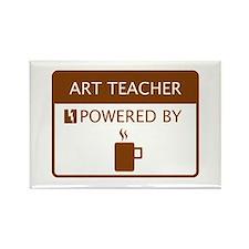 Art Teacher Powered by Coffee Rectangle Magnet