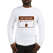Art Teacher Powered by Coffee Long Sleeve T-Shirt