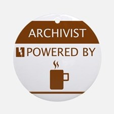 Archivist Powered by Coffee Ornament (Round)