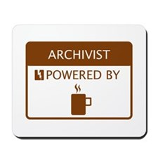 Archivist Powered by Coffee Mousepad