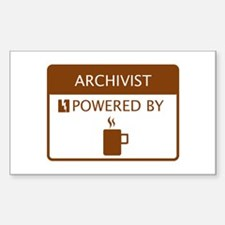Archivist Powered by Coffee Decal