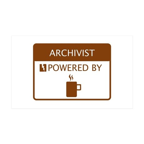 Archivist Powered by Coffee 35x21 Wall Decal