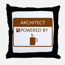 Architect Powered by Coffee Throw Pillow