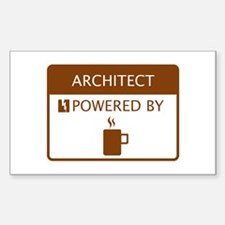 Architect Powered by Coffee Sticker (Rectangle)
