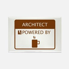 Architect Powered by Coffee Rectangle Magnet