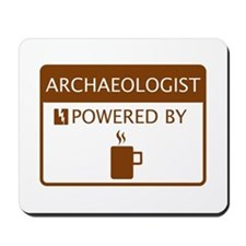 Archaeologist Powered by Coffee Mousepad