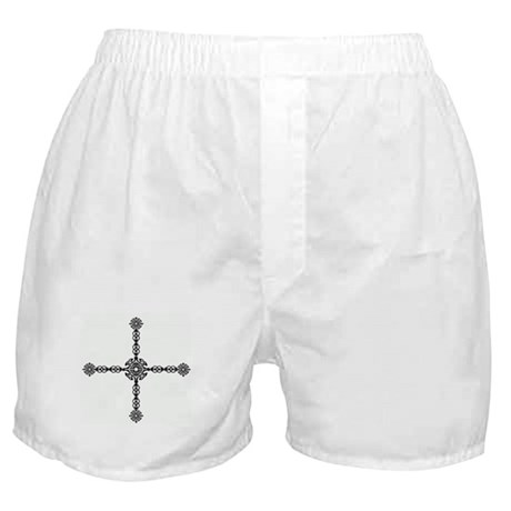 Celtic Cross Boxer Shorts (Round/Black)