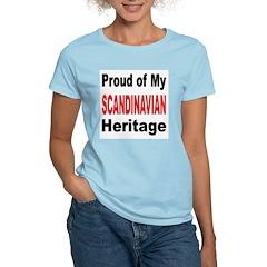 Proud Scandinavian Heritage Women's Pink T-Shirt