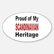 Proud Scandinavian Heritage Oval Decal