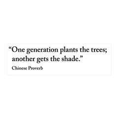 Chinese proverb Tree quote Wall Decal