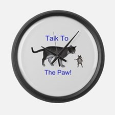 Talk To The Paw Large Wall Clock