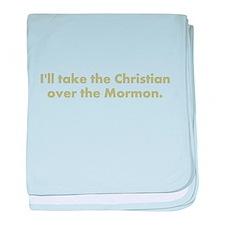 Christian over Mormon baby blanket