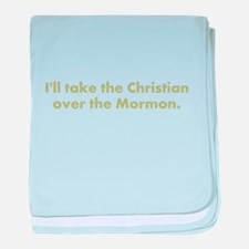 Christian over Mormon baby blanket