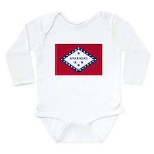 Arkansas Flag Long Sleeve Infant Bodysuit