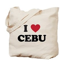 I Love Cebu Tote Bag